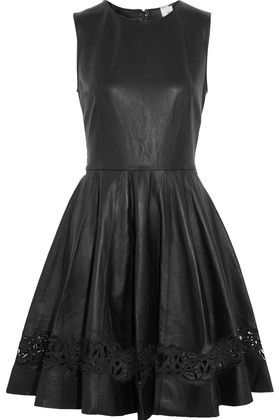 Iris and Ink Laser-Cut formal midi Leather Dress ad  ebe40e8d9