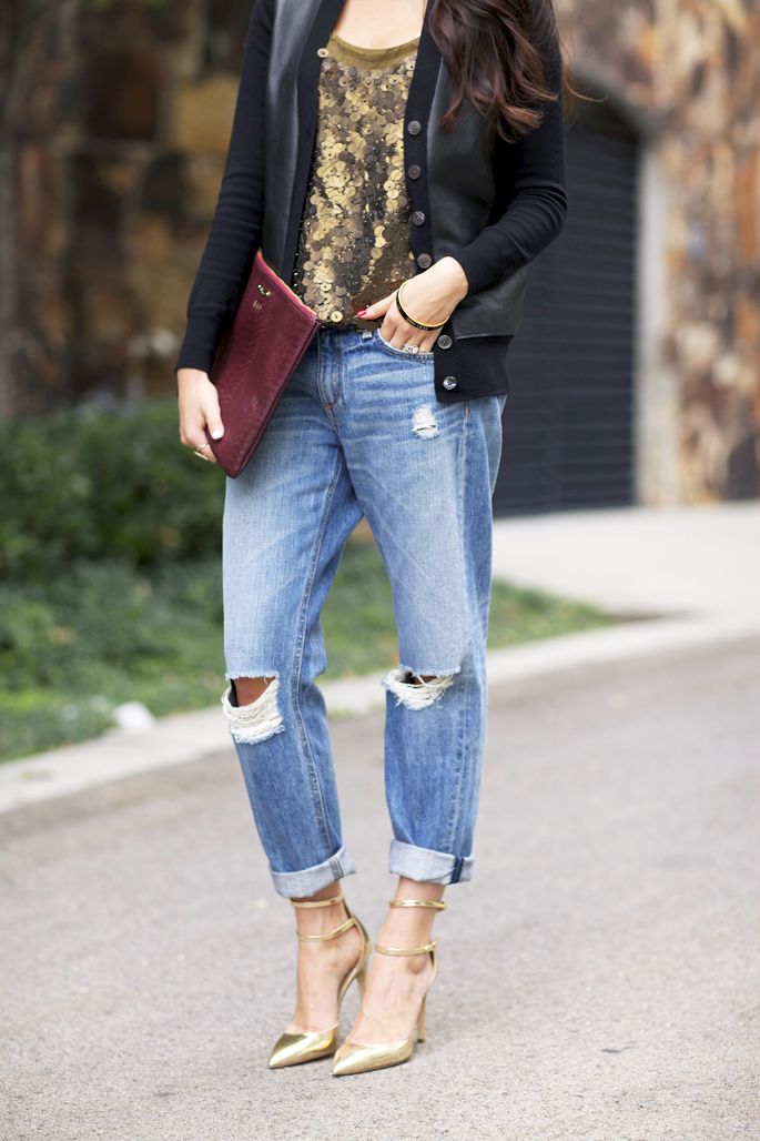 Pink Peonies/ love this outfit, I can't live without boyfriend jeans