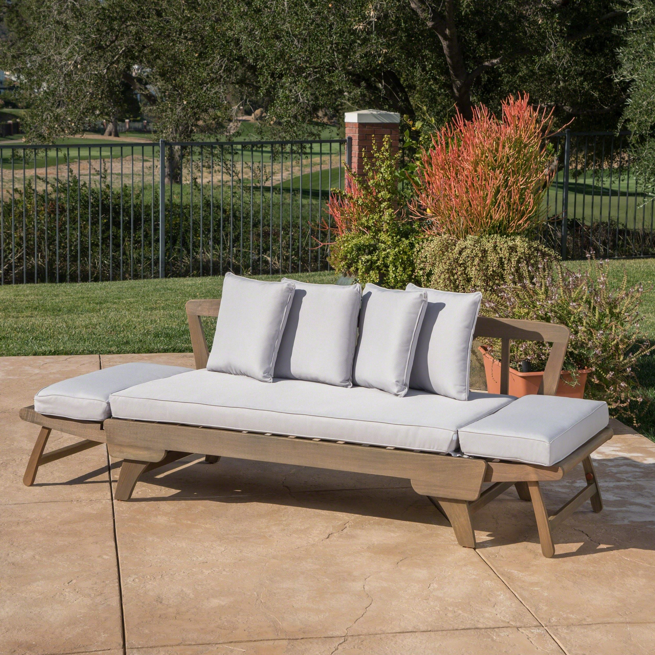 Awesome Ottavio Outdoor Wood Daybed With Cushions By Christopher Bralicious Painted Fabric Chair Ideas Braliciousco