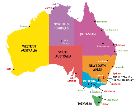 Australia Map Capitals.Pin On Homes And Solar Energy