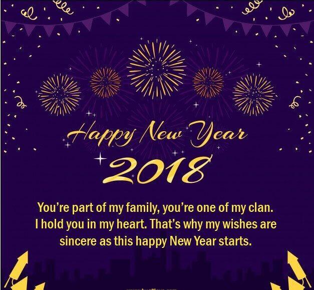 happy new year romantic quote 2018 image