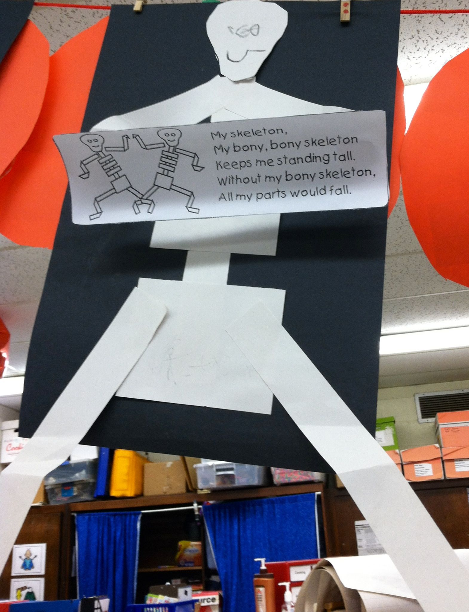 Skeleton Craft Poem Could Use For My Sight Word