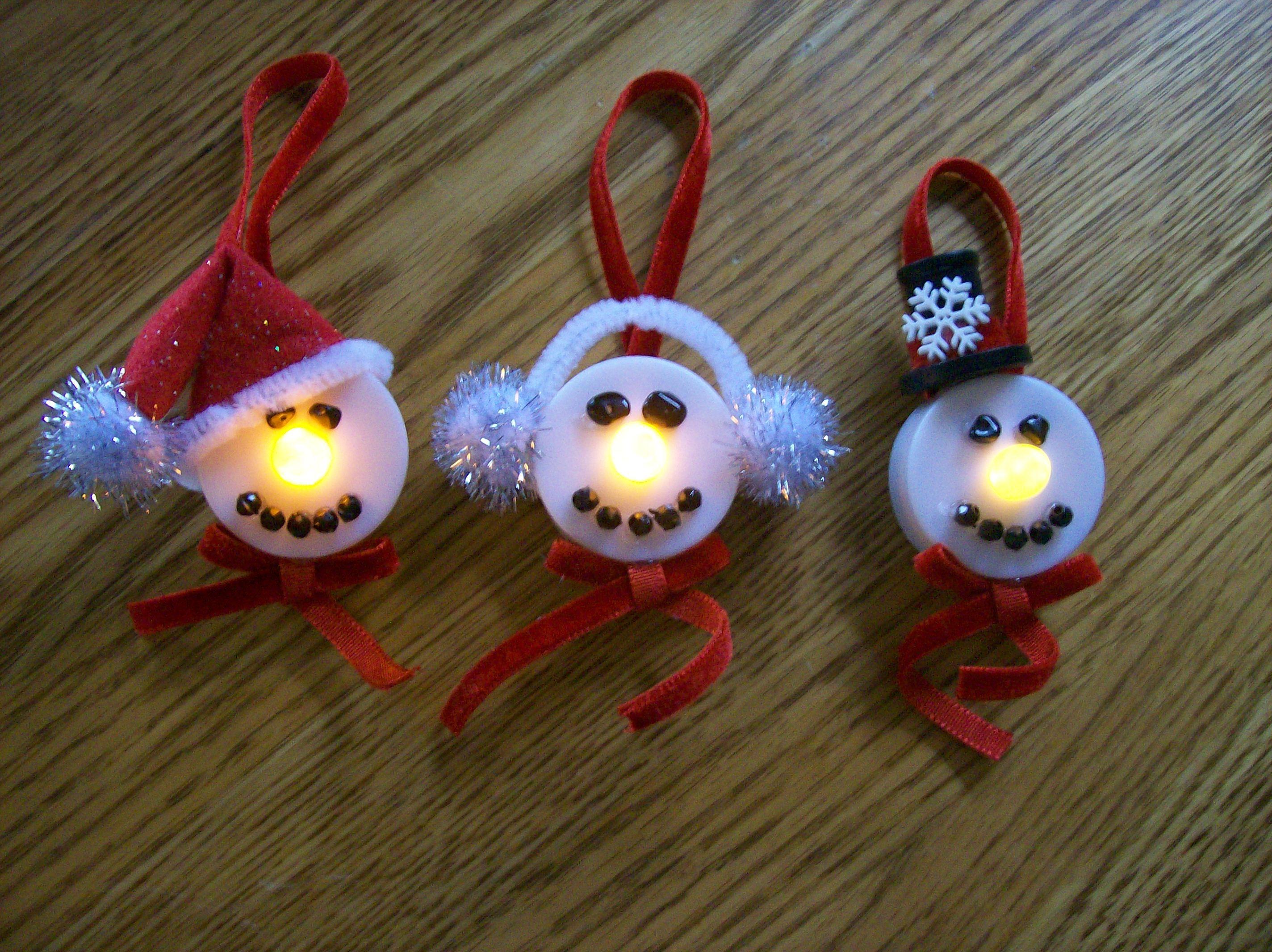 Tea Light Snowman Ornaments Christmas Candle Crafts Tea Light Crafts Tea Lights Christmas