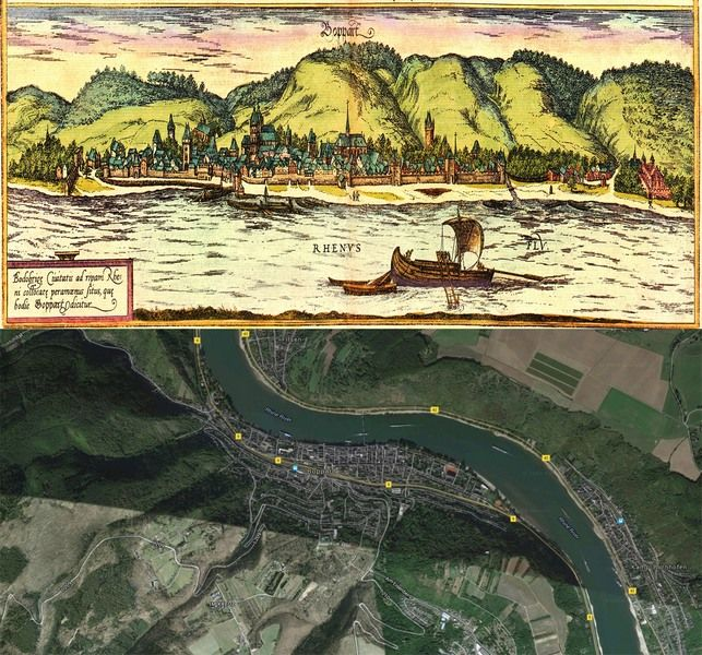 Boppard Germany Map Then And Now OldCities Http - Germany map then and now