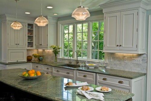 White Kitchen Cabinets With Granite