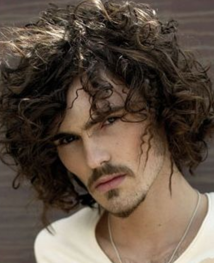 2013 Curly Men Hairstyle With Small Curs And Long Curly Bangs.PNG