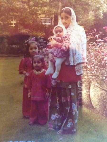 Childhood photo, Zira is second from the left / Courtesy Zira Hussain