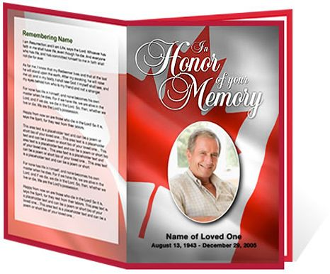 canada letter single fold program template creative memorials with