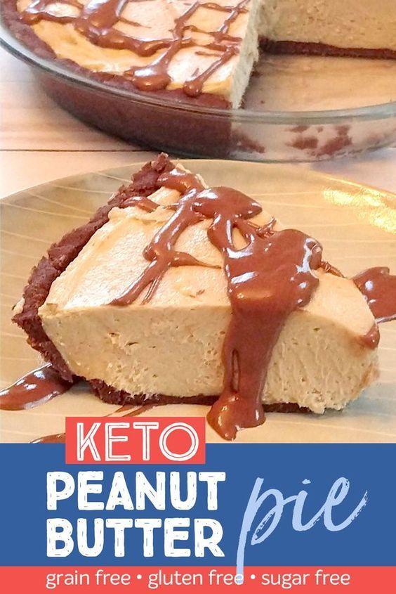 No cook keto chocolate peanut butter pie. Healthy holiday dessert! Sugar free, gluten free, grain free! #glutenfree #grainfree #keto #sugarfree #ketodessert #sugarfreedesserts