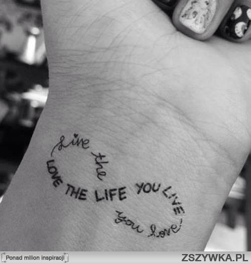 Short Meaningful Quotes For Tattoos: Love The Live You Live ,wrist Tattoo For Fashion Girls