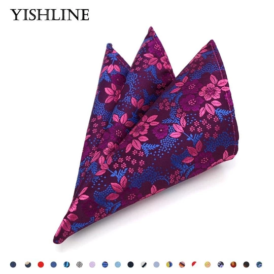 Men's Tuxedo Floral Linen Cotton Hanky Handkerchief Wedding Party Pocket Square