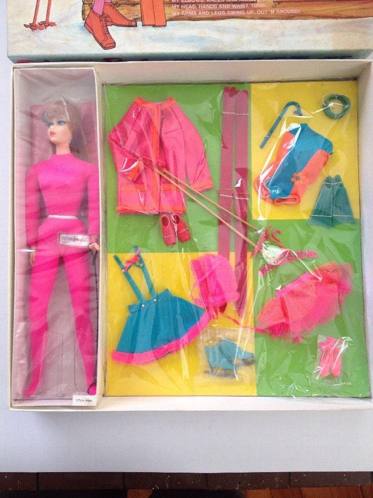 Vintage 1969 Living Barbie Action Accents Set Mint in Box