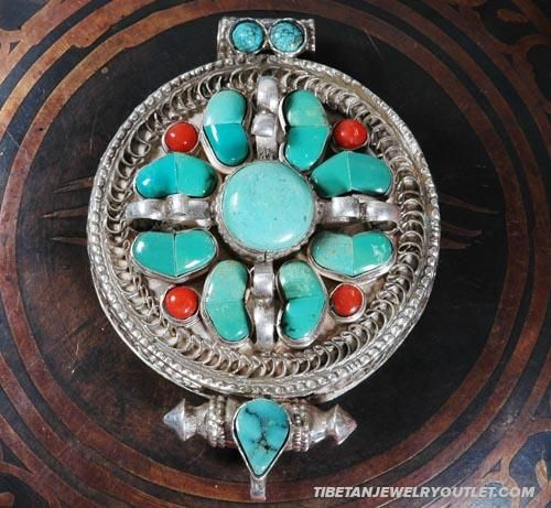 Handmade tibetan prayer box pendant coral gau jewelry pinterest handmade tibetan prayer box pendant coral gau aloadofball Gallery