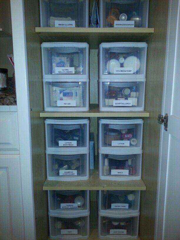 Bathroom Closet Organization Organizar Closets