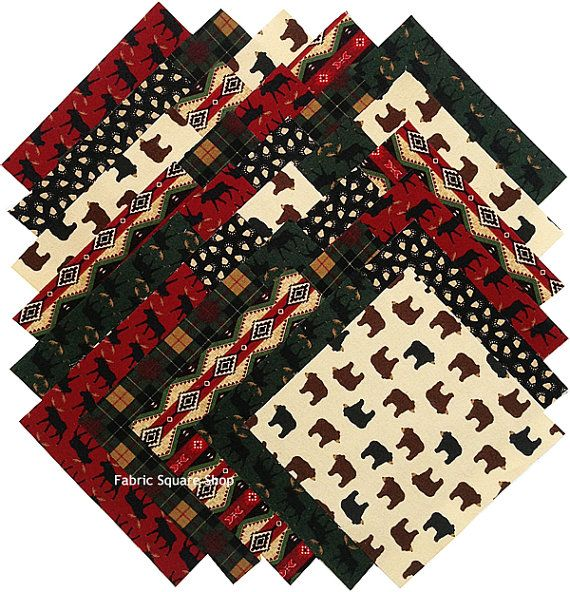Timeless Treasures Northwoods Lodge Flannel Precut 6.5