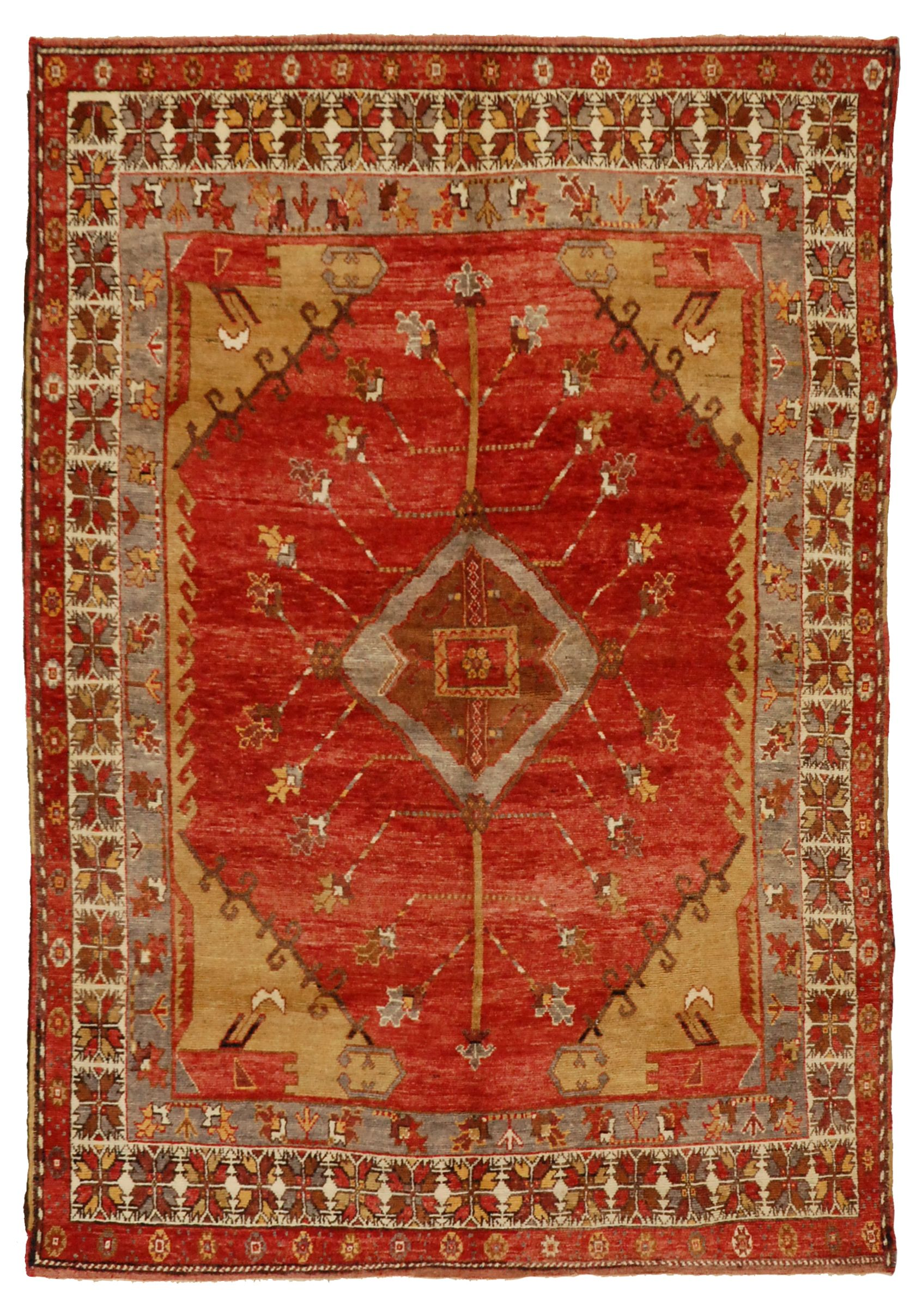Red Vintage Oushak Rugs