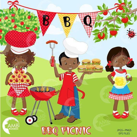 BBQ clipart, Picnic clipart, Backyard Barbecue Bbq party ...