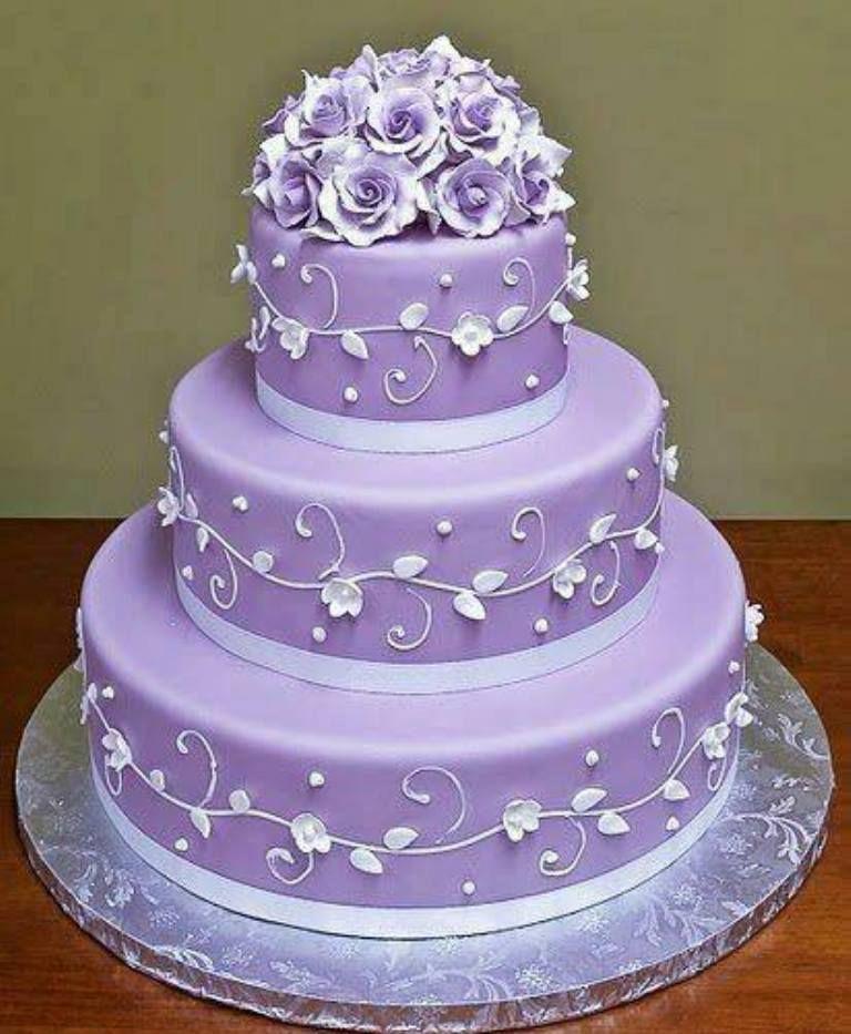 Purple Wedding Ideas With Pretty Details: PRETTY IN PURPLE WEDDING CAKE....:)