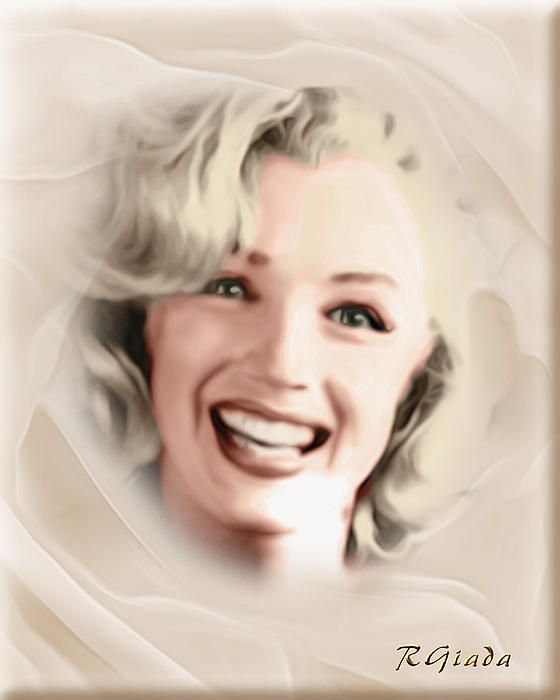 Smile of a goddess - digital painting by Giada Rossi