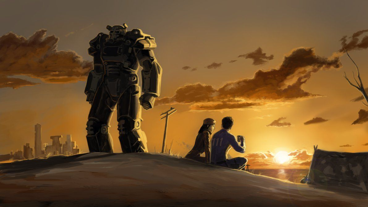 Sun Fall On Wasteland By Enriquenl Deviantart Com On Deviantart Fallout Wallpaper Fallout Art Fallout Funny