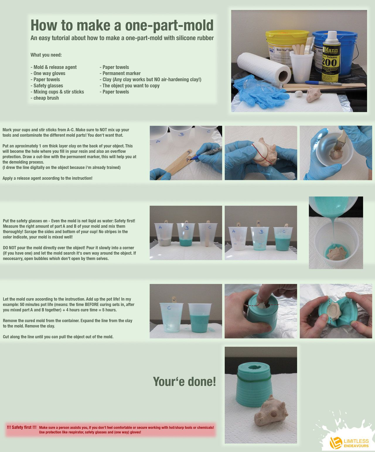 How To Make A One Part Mold By Limitlessendeavours On Deviantart Resin Diy Mold Making Resin Crafts