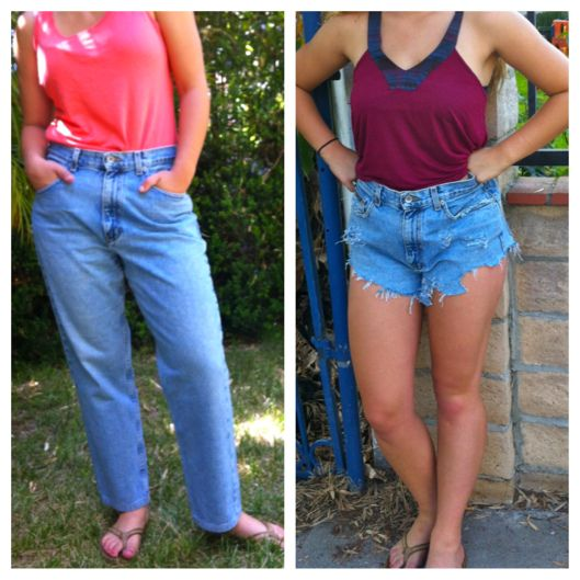 Diy High Waisted Denim Shorts Step By Step Instructions With Pictures High Waisted Shorts Diy High Waisted Shorts Denim Diy Cutoffs