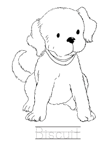 Biscuit The Dog Coloring Book Pages Literature Puppy Coloring