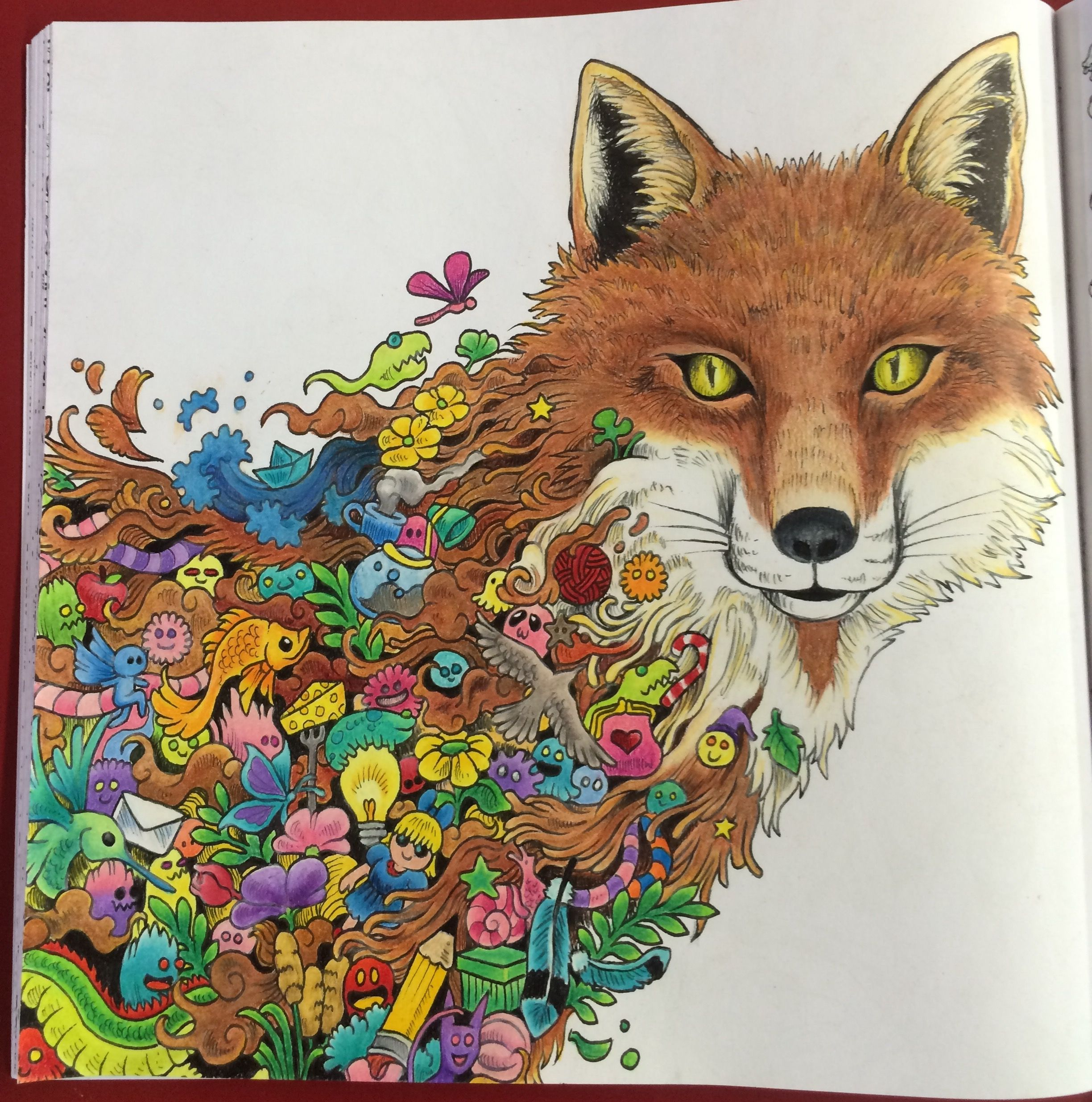 Animorphia Adult Coloring Book By Kerby Rosanes Colored