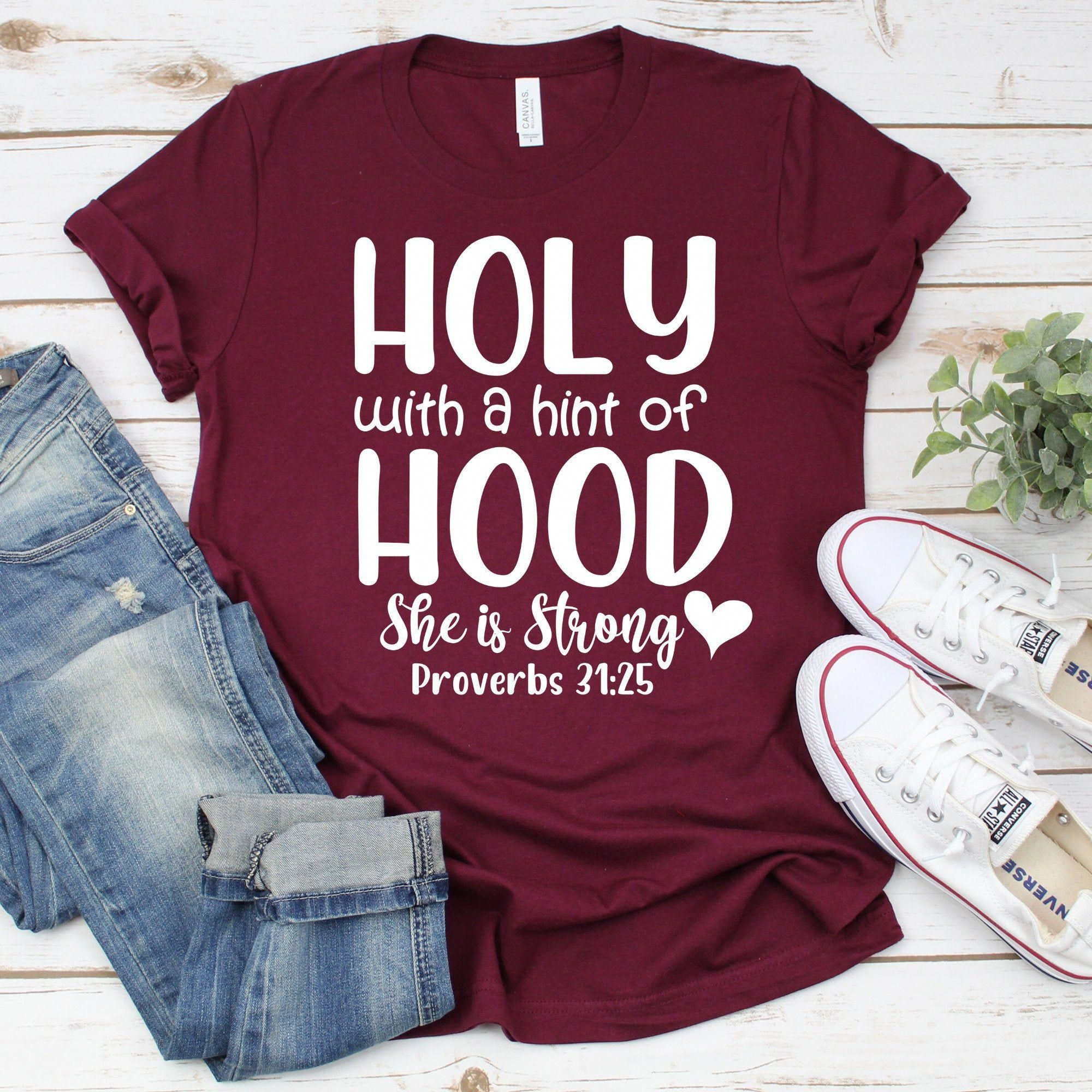 Download Holy with a Hint of Hood Christian Svg Files For Cricut ...