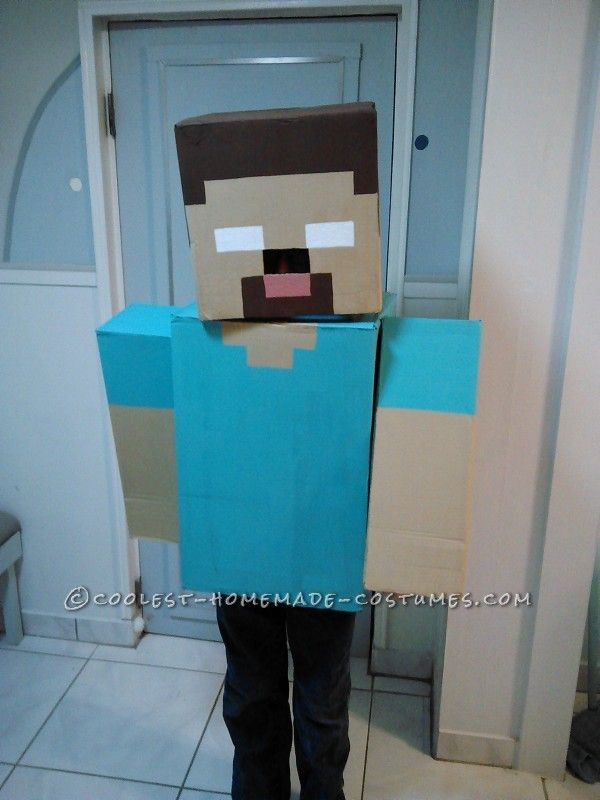 Coolest 1000 Homemade Costumes You Can Make Minecraft Halloween Costume Minecraft Costumes Boy Costumes
