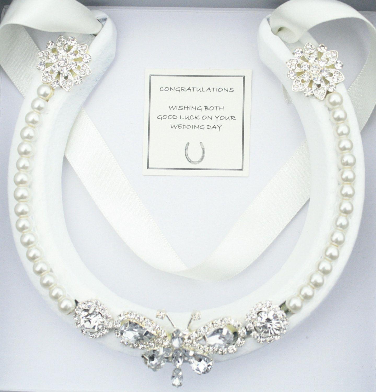 Lucky Wedding Gifts: Wedding Bridal Real Lucky Horseshoe Good Luck Wedding