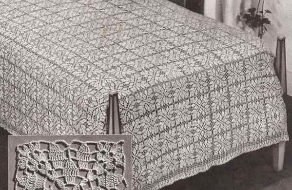 free vintage crochet bedspread patterns | my next project ...