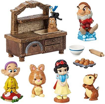 Amazon.com: Disney Animators' Collection Littles Snow White Mini Set: Toys & Games