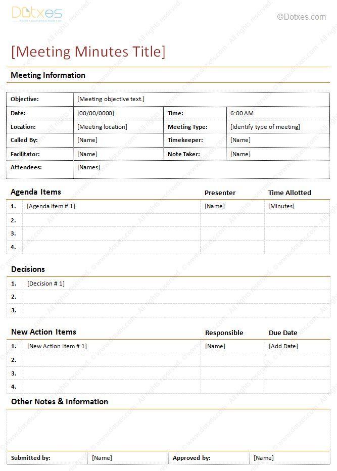 Meeting Minutes Free Template Este Documento Es Clave Para Lograr Que Tus Reuniones No Se Queden .