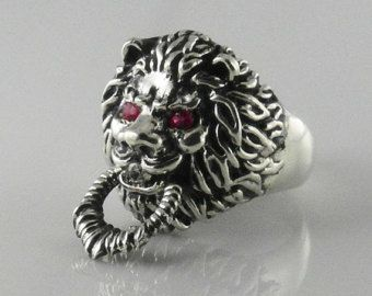 Big Lion Head Leo Big Heavy 925 Sterling Silver Mens Biker Ring Jewelry New Fine Rings Fine Jewelry