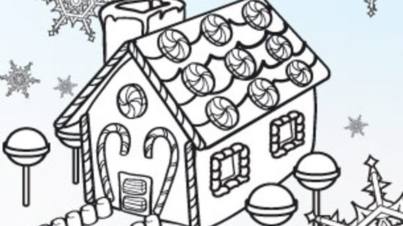 Coloring Pages Gingerbread Man House Free Online Printable Sheets For Kids Get The Latest Images
