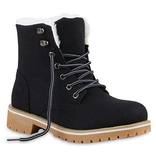 Warm Fell Worker Schuhe Gefütterte Damen Stiefeletten Boots Outdoor e9HWIDE2Y