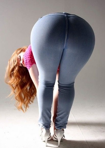 Redhead bbw big booty and hips