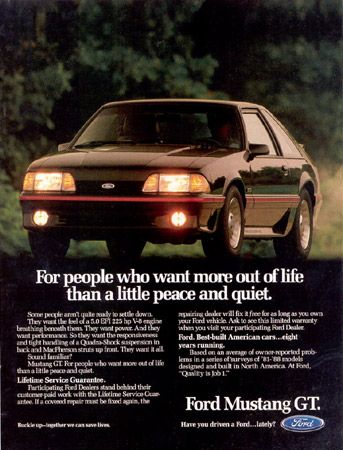3c6f51e596be2e03c7b9ef3f235f7ef5 1988 fox body mustang gt ad from ford motor company cars