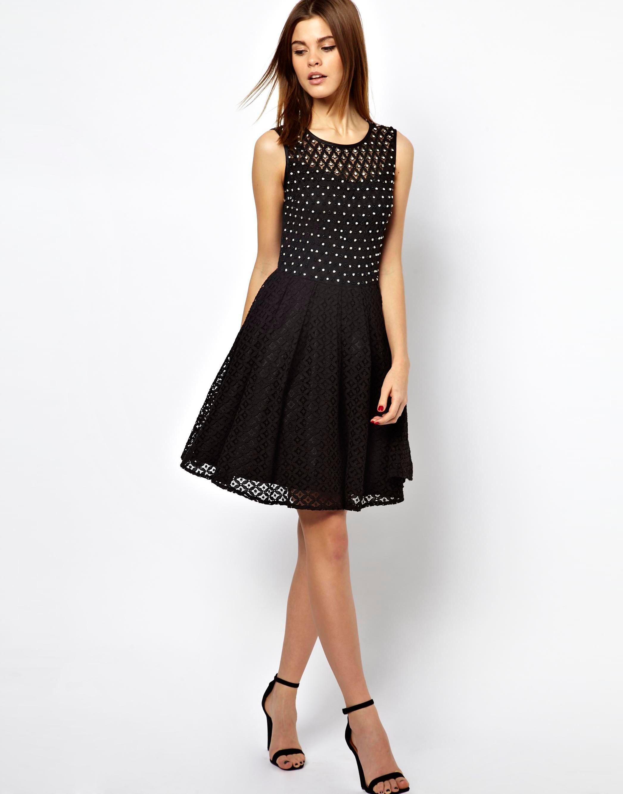 Asos A Wear Lace Skater Dress With Embellishment 3603473 Jordan Cohayney Dresses Lace Skater Dress Outfits [ 2668 x 2092 Pixel ]