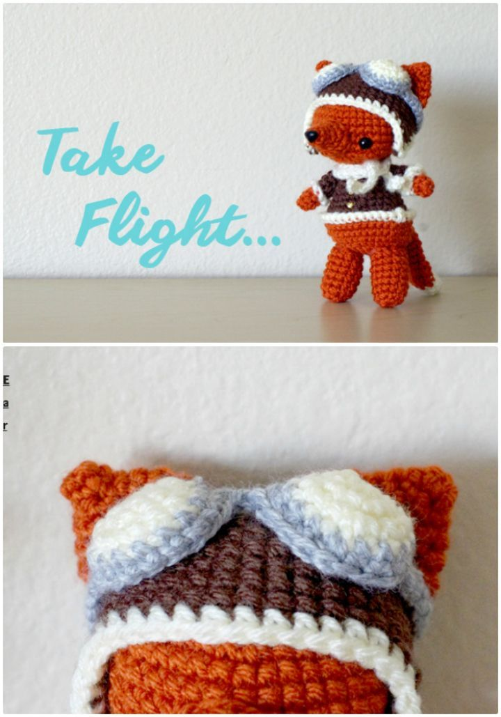 50 Free Crochet Fox Patterns - Crochet Fox Hat | Deberes
