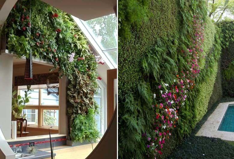El jard n vertical es una opci n muy interesante para decorar la casa tanto en el interior como - Jardines verticales interiores ...