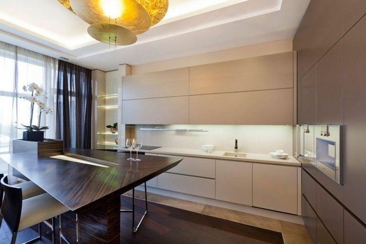 decoración de cocinas color marrón y beige   Cocinas   Pinterest ...