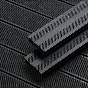 Wickes 5 Piece Composite Decking Kit - Black Finish | Easy ...