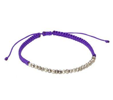 Purple Cord & Bead Striking Bracelet by John Greed