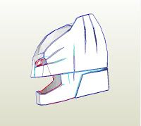 Armored Batman aka Mech Suit Helmet DIY free PDF template Helmet