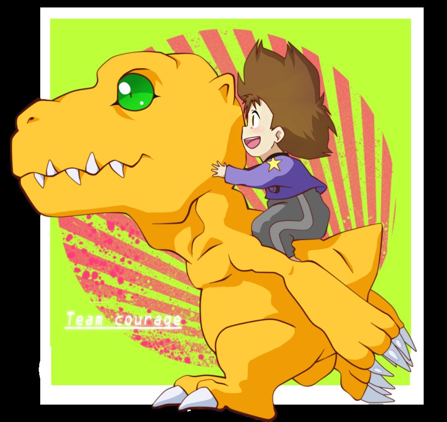 Team Courage ~ Taichi and Agumon by NPC-Dion.deviantart.com on @deviantART