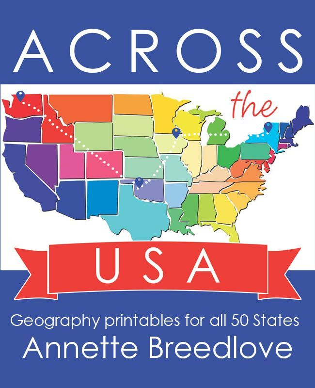 across the usa geography printables for all 50 states - State Printables