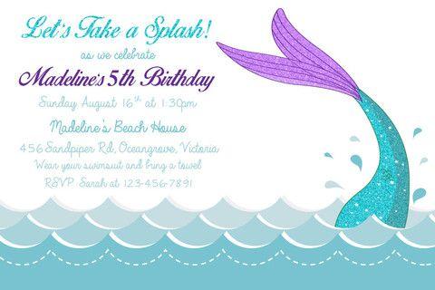 Birthday digital printable invitation template mermaid fun birthday digital printable invitation template mermaid fun filmwisefo Choice Image