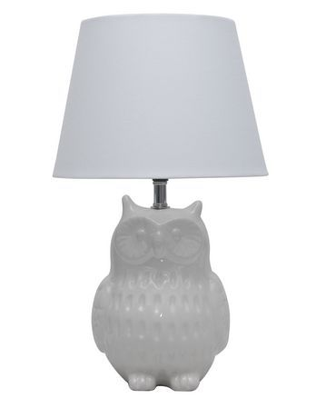 14 5 Ceramic Owl Table Lamp White For Sale At Walmart Canada Shop And Save Home Pets At Everyday Low Prices At Walmart Ca